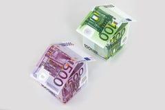 Euro maisons Images libres de droits