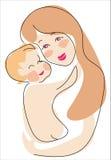 Euro mama and child royalty free illustration
