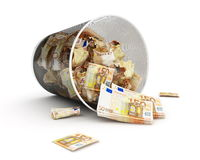 Euro maney basket Royalty Free Stock Photography
