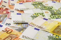 Euro maney of different denominations 4 stock image