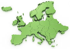 Euro map Stock Photo