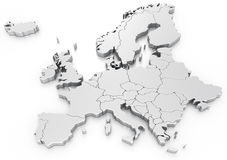 Euro map Stock Image