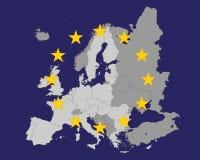 Euro map Royalty Free Stock Photos