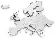 Euro- mapa Imagem de Stock