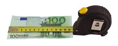 Euro- medição Foto de Stock Royalty Free