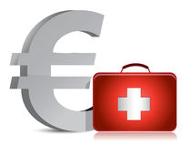 Euro and medical kit Stock Photos