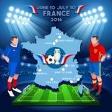 Euro-Meisterschaft Frankreichs 2016 Lizenzfreie Stockfotos