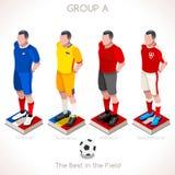 EURO Meisterschaft GRUPPE 2016 A Lizenzfreie Stockbilder