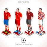 EURO Meisterschaft GRUPPE 2016 D Stockbilder