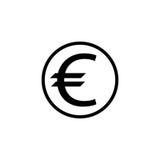Euro mennicza stała ikona, finanse i biznes, ilustracji
