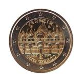 2 euro menniczy, Europejski zjednoczenie Zdjęcie Royalty Free