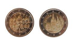 2 euro menniczy, Europejski zjednoczenie Obrazy Royalty Free