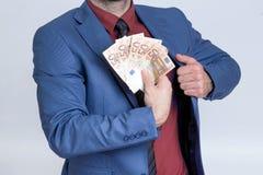 Euro mens Royalty-vrije Stock Afbeeldingen
