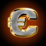 Euro met diamanten Royalty-vrije Stock Afbeelding