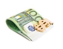 Euro met klem stock fotografie