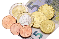 8,84 Euro minimum wage in Germany. Cash isolated over white background Royalty Free Stock Image