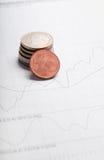 Euro mit Diagramm Lizenzfreie Stockbilder