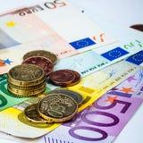 Euro- moeda Fotos de Stock Royalty Free