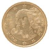 Euro- moeda do centavo Fotos de Stock Royalty Free