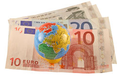 Euro- moeda global Fotos de Stock