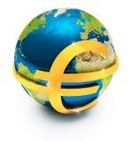 Euro- moeda global Foto de Stock