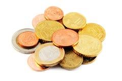 Euro- moedas Fotos de Stock Royalty Free