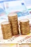 Euro- moedas Fotografia de Stock