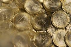 Euro- moedas Fotografia de Stock Royalty Free