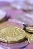 Euro- moedas. Imagem de Stock Royalty Free