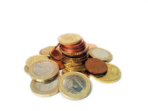 Euro- moedas Imagem de Stock Royalty Free