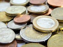 Euro- moedas Foto de Stock Royalty Free