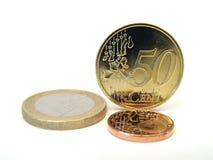 Euro- moedas Imagens de Stock
