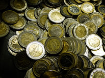 Euro- moedas fotos de stock