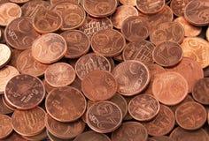 Euro- moedas do centavo Fotos de Stock