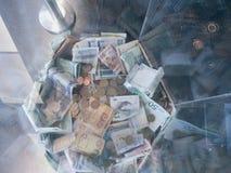Euro- moedas e notas imagem de stock