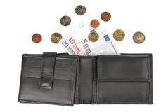 Euro- moedas e notas de banco Fotos de Stock