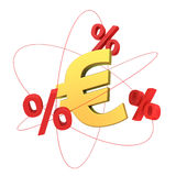 Euro molecule Royalty Free Stock Images