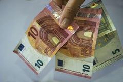 euro monay Royaltyfria Foton
