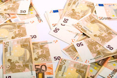 euro monay Arkivfoton