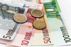 euro monay Fotografering för Bildbyråer