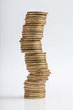 Euro monet wierza w równowadze Obrazy Royalty Free