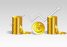 Euro moneta Fotografie Stock Libere da Diritti