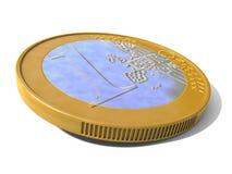 Euro Moneta Zdjęcia Stock