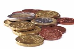 Euro moneta Fotografie Stock