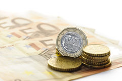 Euro moneta del Greco uno Immagini Stock