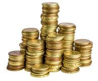 Euro moneta na bielu Obraz Royalty Free