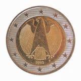 Euro moneta tedesca Fotografia Stock Libera da Diritti