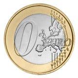 Euro moneta zero Fotografie Stock