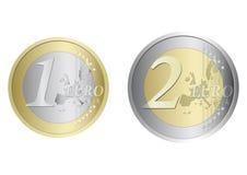 Euro monete Fotografie Stock Libere da Diritti