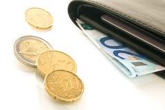 Euro monete Fotografie Stock